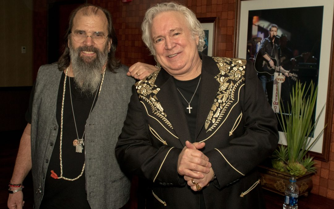 T. Graham Visits with Steve Earle At Grand Ole Opry