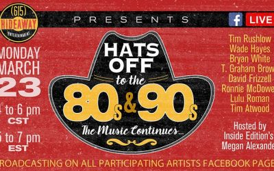 Hats Off To The 80s & 90s – The Music Continues Livestream Concert w/ T. Graham Brown, Bryan White, Wade Hayes & More On Monday, March 23rd From 4-6pm